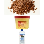 Flax Seeds, Eco Styler Gel, Aloe Vera Gel